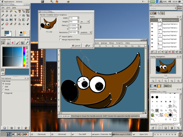 GNU Image Manipulation Program is a freeware raster graphic editor.