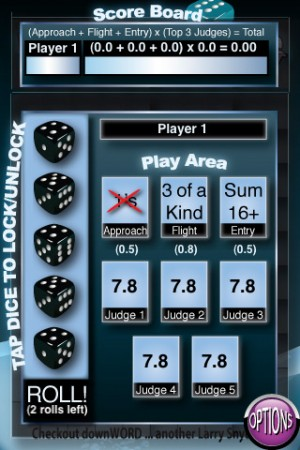 All About Dice Diving iPhone Game
