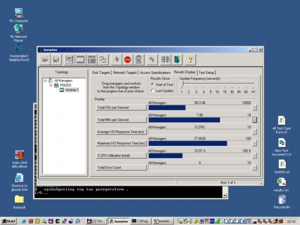 Input Output Testing with Iometer