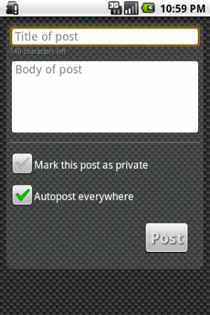 A User Review of Sendy, Posterous Client 1.6.1 for Android Phones.