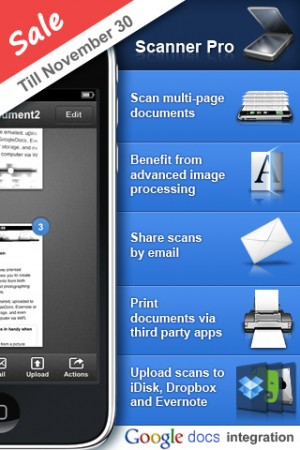 Your iPhone becomes a Document Scanner with Scanner Pro