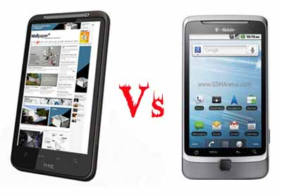 HTC Desire HD vs. T-Mobile G2