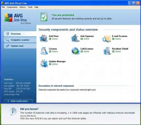 AVG Free Edition: The AntiVirus Solution
