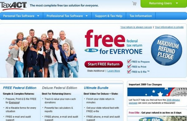 Act on Tax with TaxAct Software
