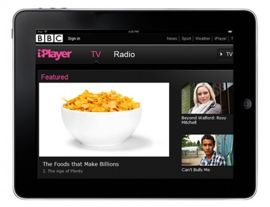 BBC iPlayer for iPad