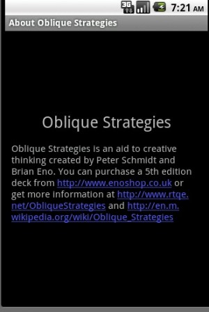 Oblique Strategies Application Android