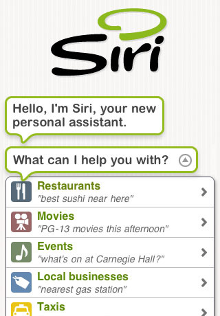 Personal Assistant for You-Siri App in Your Mobile