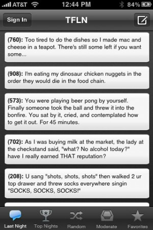 Texts From Last Night App for iPhone