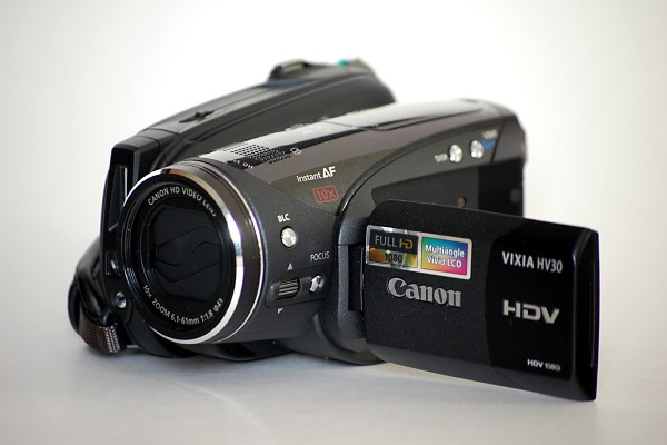 Changing the recording of a camera style from video to HV30