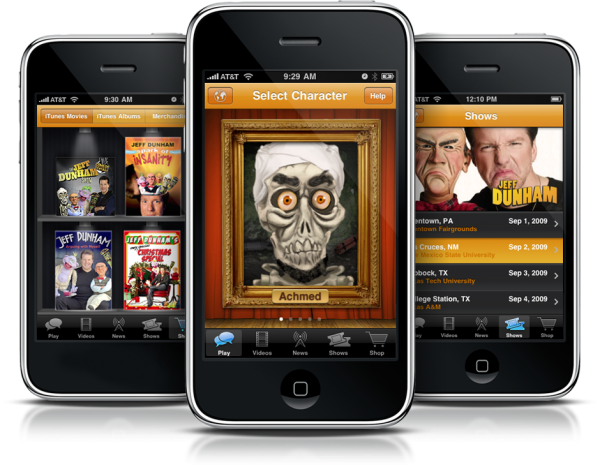 Easy Access to Jeff Dunham With iPhone Application