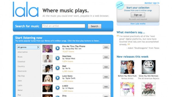 Lala Dot Com Shuts Down and Crowns iTunes