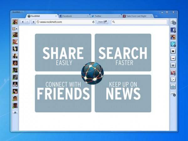 Rock Melt: The Ideal Social Web Browser
