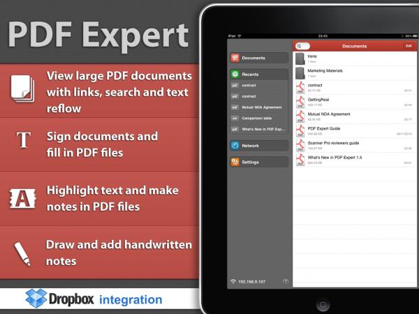 The iPad PDF Expert