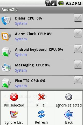 AndroZip the ideal Task Manager for your iPhone