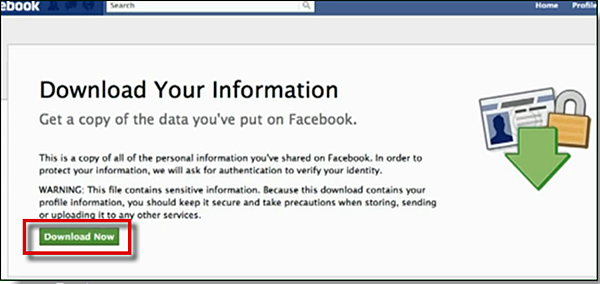 Download your Facebook Pictures and Data