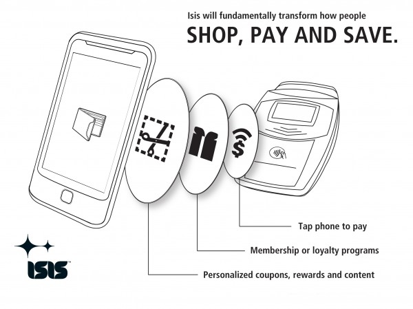 Isis: Mobile Phone Payment Gateway to be developed by AT&T, T-Mobile and Verizon Wireless