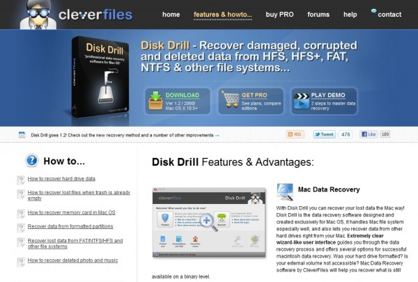 Disk Drill - free Mac data recovery software