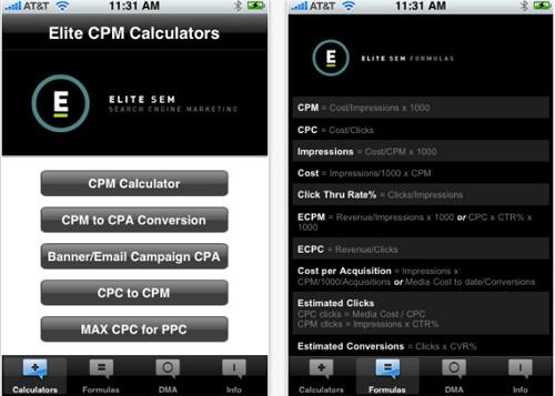 SEM Calculator for iPhone