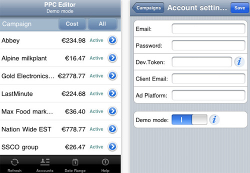 PPC Editor for iPhone
