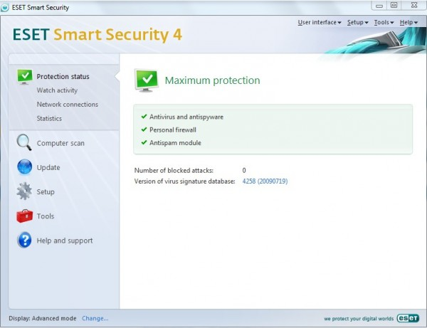 ESET smart security 4 (all in one security)