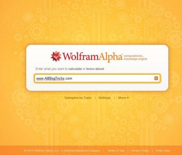 Wolfram alpha against Google