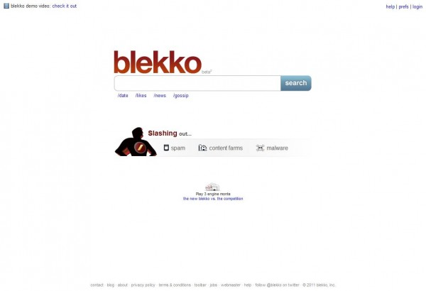 Blekko Search Engine for Better SEO