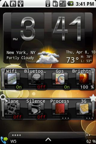 Forecast Weather with Weather and Toggle Widget for Android