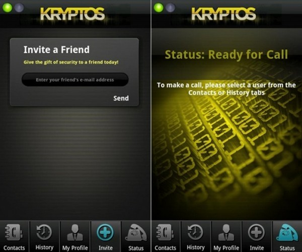Secured Phone Conversations with Kryptos