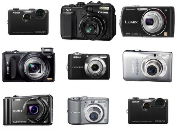 The three main categories of digital cameras