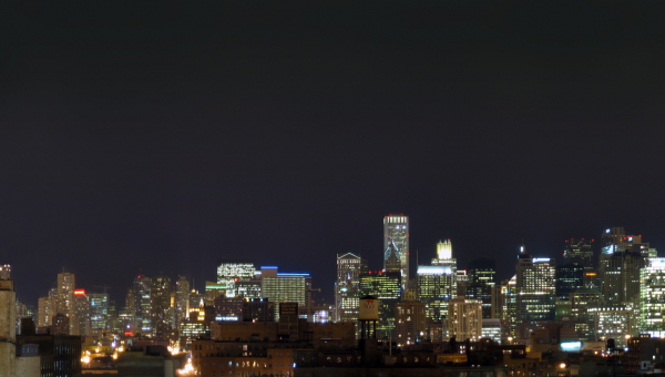 Chicago City Skyline at Night