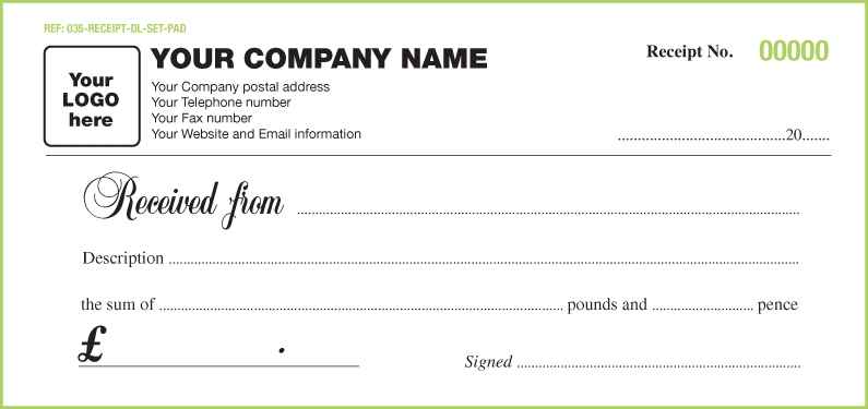 web design receipt template