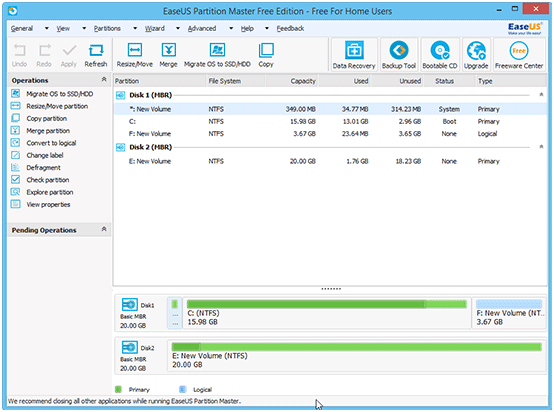 Review: EaseUS Partition Master Free