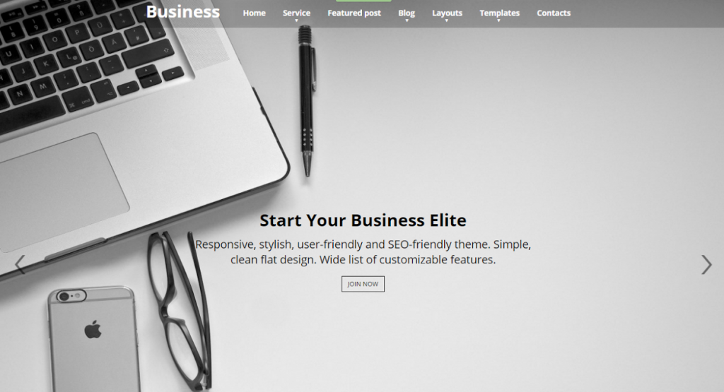 business elite wordpress theme